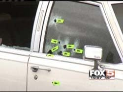 Stanley Gibson's vehicle following the shooting. (FOX5 file)