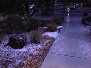 Hail hits the Las Vegas Valley (Liliya Caudill)