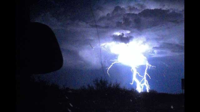 Lightning was a significant element of this week's storms in Las Vegas. (Darien Kimrey)