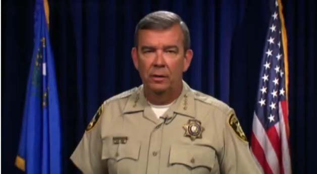 Sheriff Doug Gillespie addresses employees in a video message. (LVMPD)