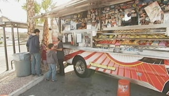 Food trucks like Fukuburger will be mandated to stay clear of a 150-foot zone around area restaurants.