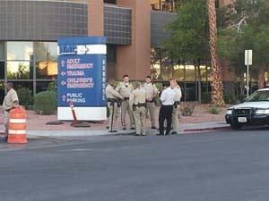 The scene outside UMC on Friday afternoon. (Matt DeLucia/FOX5)