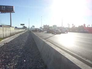 The accident happened on I-15 near Charleston Blvd. (Arron Healy/FOX5)