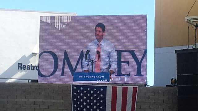 Paul Ryan speaks in Henderson on Oct. 23. (FOX5)