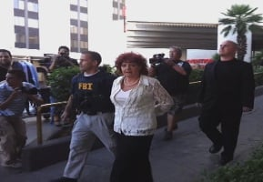 Roxanne Rubin is taken into custody at the Riviera. (Matt DeLucia/FOX5)