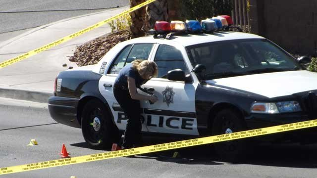 Police shot a suspect who had held a woman at knife point. (Chris Carmody)