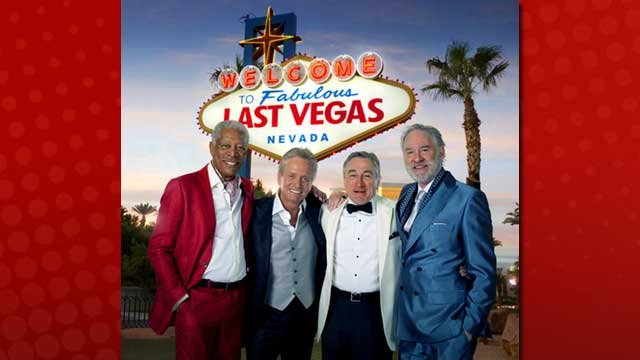 "(l-r) The stars of ""Last Vegas"": Morgan Freeman, Michael Douglas, Robert De Niro and Kevin Kline. (Artwork provided by CBS Films)"