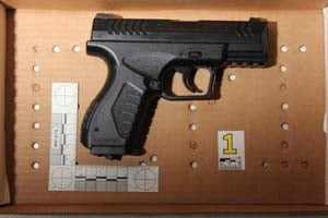 The pellet gun Goldsborough allegedly aimed at SWAT officers. (Henderson PD)