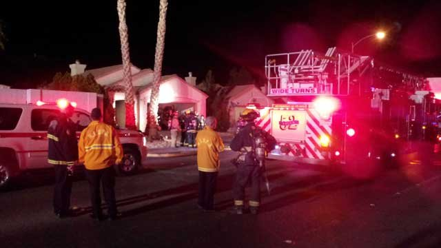Fire crews said a vacant home caught fire on Casa Del Norte Drive. (Armando Navarro/FOX5)