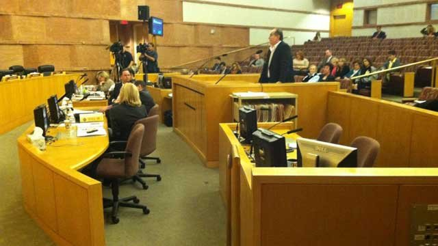 Neighbors of a Las Vegas chimpanzee owner testified before Clark County Board of Commissioners on Thursday. (Azenith Smith/FOX5)