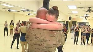 Sgt. Maj. Ronald Morse gives his family a holiday surprise.