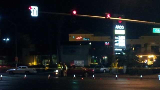 Police closed off an area of Craig and Rancho following a deadly shooting. (Armando Navarro/FOX5)