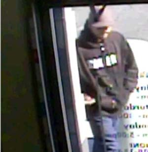 Surveillance still of the robbery suspect. (LVMPD)