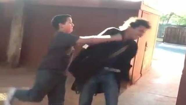 A young man is punched in a video uploaded to YouTube.