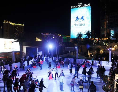 The Ice Rink at Cosmopolitan of Las Vegas. (Courtesy of Denise Truscello)