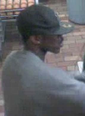 Surveillance still of the robbery suspect. (LVMPD)