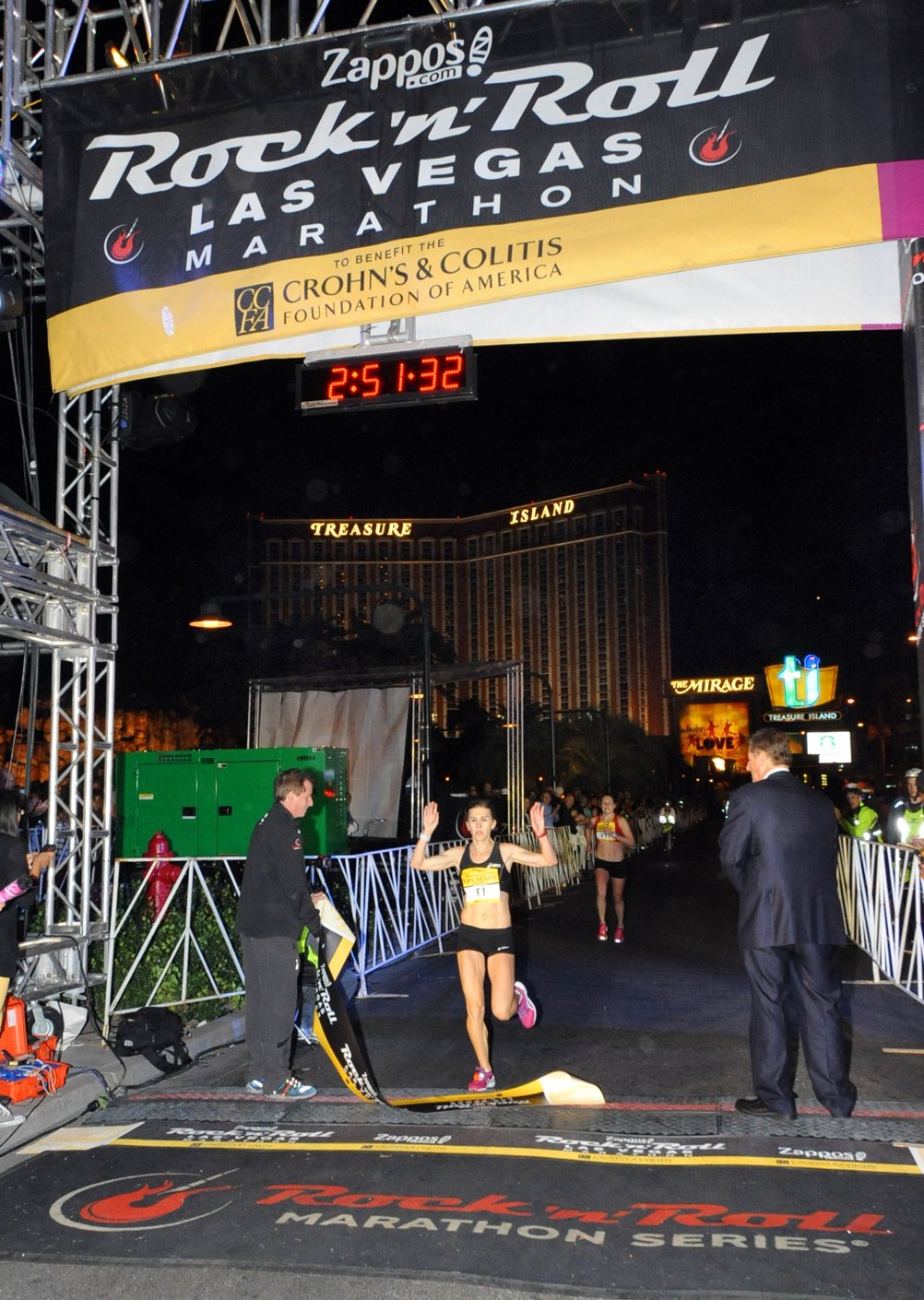 Nuta Olaru of Romania is the women's champion in the marathon with a time of 2:51:31 (Courtesy: LVCVA)