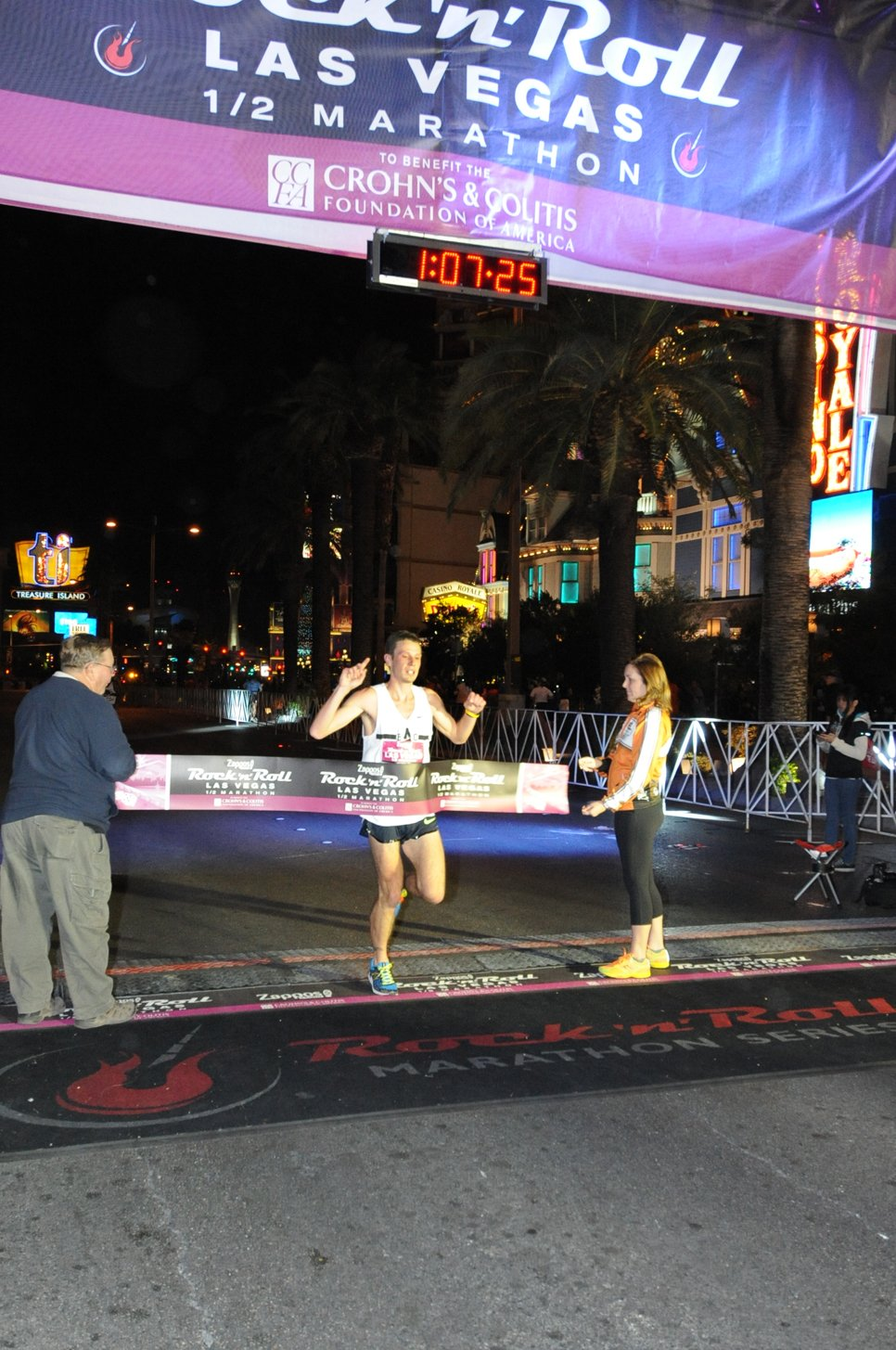 Craig Hopkins of England was the men's champion in the half-marathon with a time of 1:07:23 (Courtesy: LVCVA)