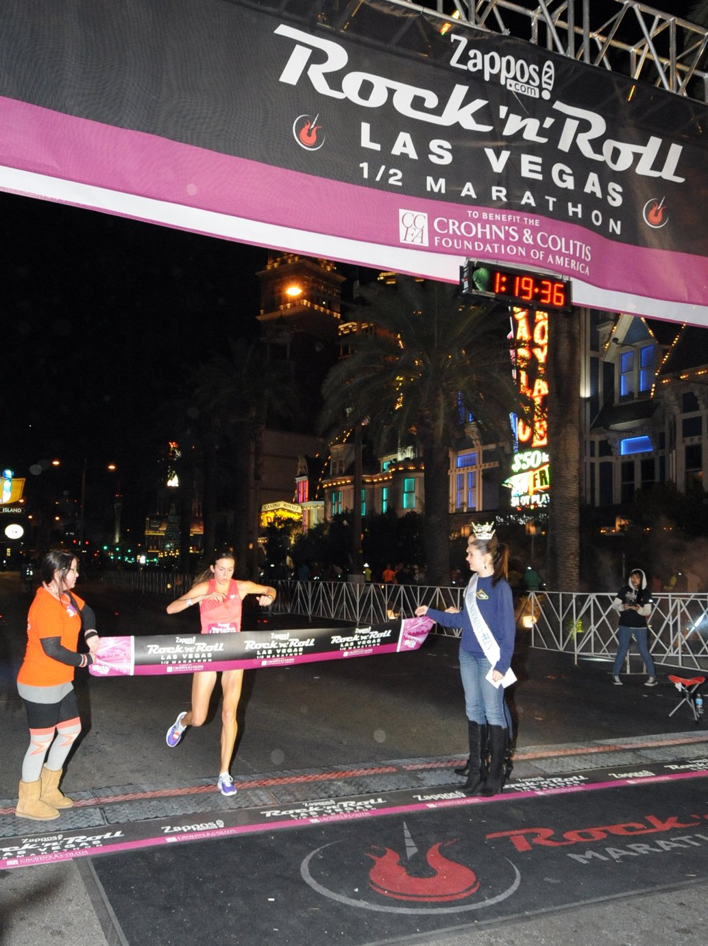 Bradi Hutchison of Pocatello, Idaho was the women's champion in the half-marathon with a time of 1:19:34 (Courtesy: LVCVA)
