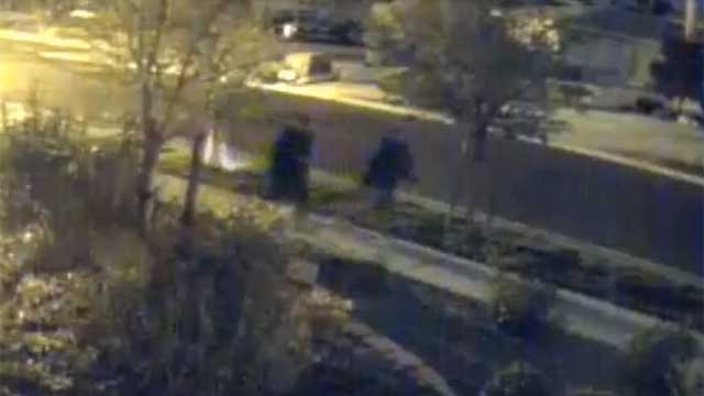 Police released surveillance video of two men believed to be connected to a home invasion that happened in March. (Henderson PD)
