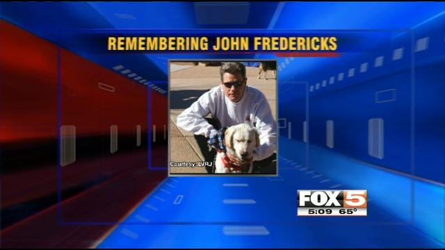 John Fredericks will be buried next to his pet dog Jordan, a family spokesperson said.