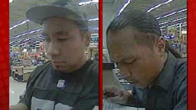 Police said the two men pictured tried to cash fraudulent checks on Dec. 5, 2012. (LVMPD)