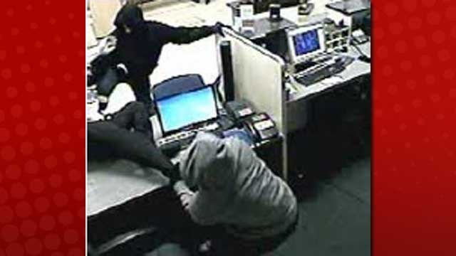 Police said the bank was struck by two hooded, masked men just before it closed on Dec. 5, 2012. (LVMPD)