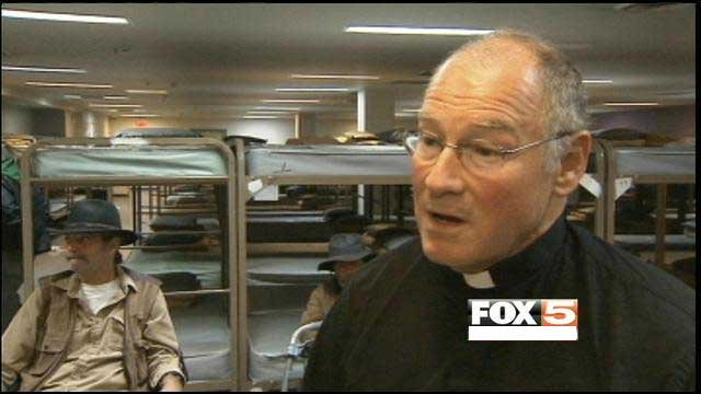 Catholic Charities provided shelter and relief to the homeless in Las Vegas under Leary's direction. (FOX5 FILE)