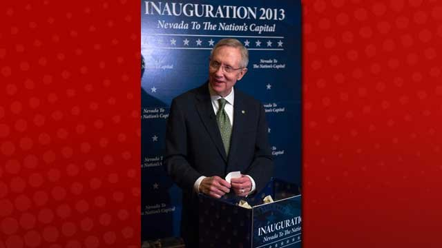 Nevada Senator Harry Reid drew the first ten names of Nevadans that will attend the 57th quadrennial Presidential Inauguration.