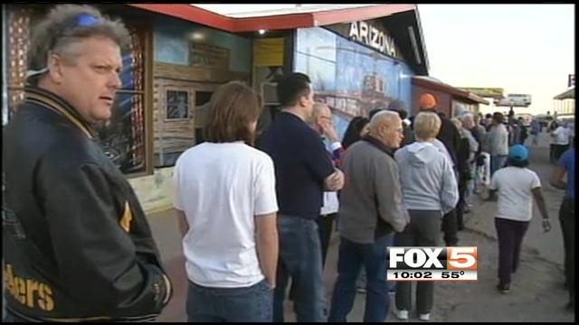 Lines outside lotto ticket retailers have been common among big Powerball jackpots.