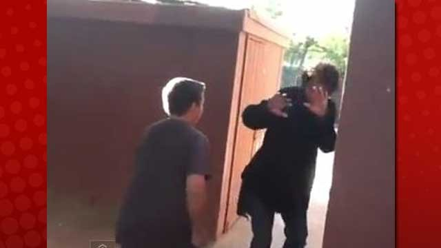 The younger of the two boys (left) who admitted to punching a special needs student said he was egged on in the incident. (YouTube)