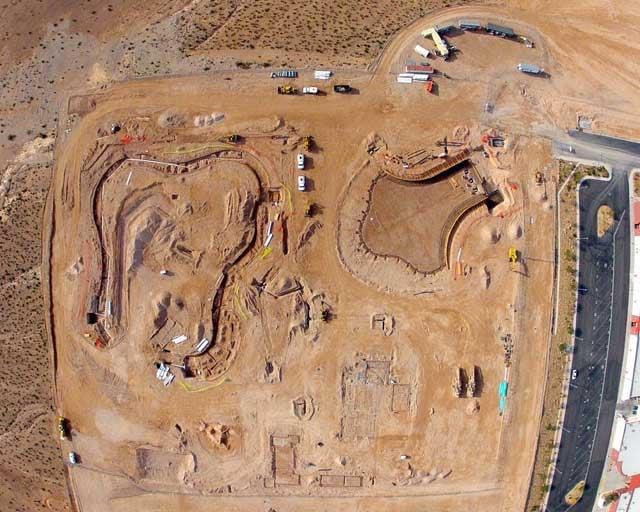 An aerial shot of the Wet 'N' Wild construction site. (Las Vegas Sky Cam)