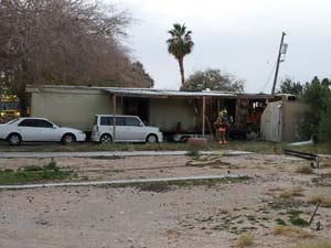 Two people perished in a mobile home fire on Christmas morning. (Eric Youngman/FOX5)