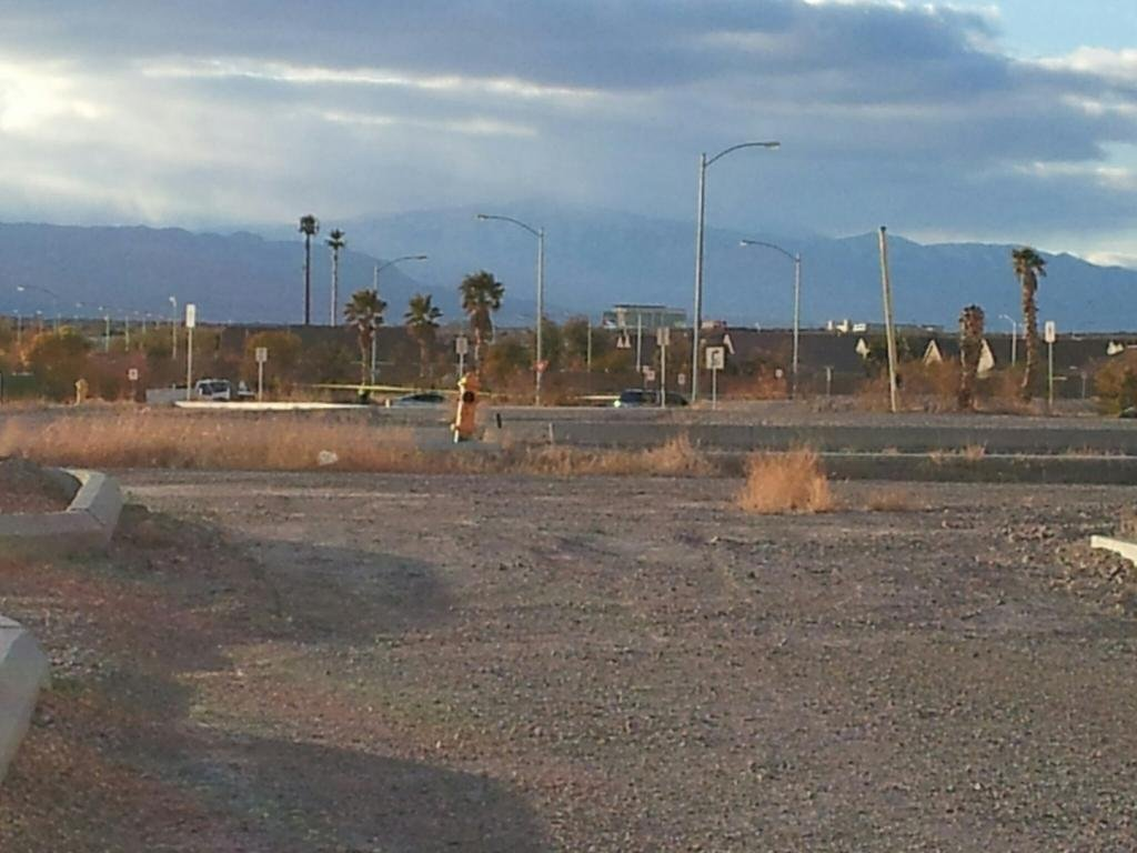 The North Las Vegas area where the body was discovered. (Matt DeLucia/FOX5)