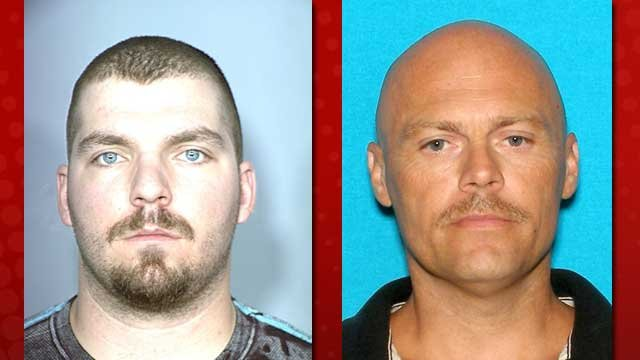 Michael Bessey, left, and Richard William Pearson, right, were previously arrested for an alleged plot to kill Robert Bessey.(LVMPD)