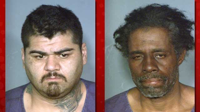 Genaro Padilla, Jr., left, and Kenneth Glosson, right. (LVMPD)