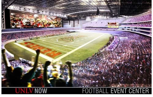 Football rendering (Courtesy of UNLV)