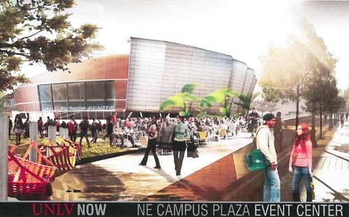 Plaza rendering (Courtesy of UNLV)