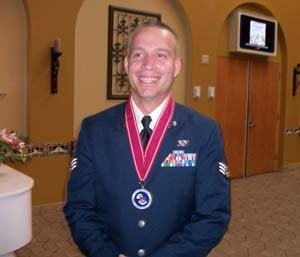 Daniel in dress blues.