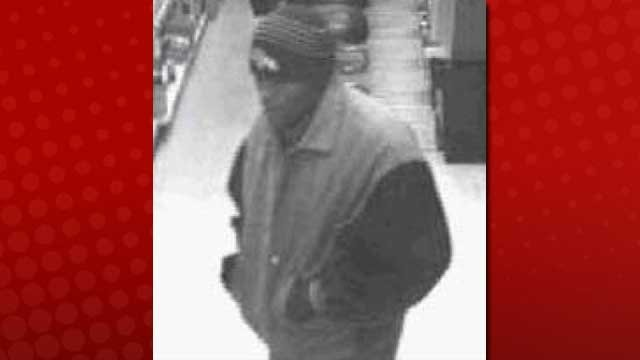 Security video images of the suspect in the Jan. 6 robbery. (LVMPD)