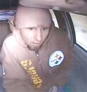 Surveillance still of the suspect. (LVMPD)