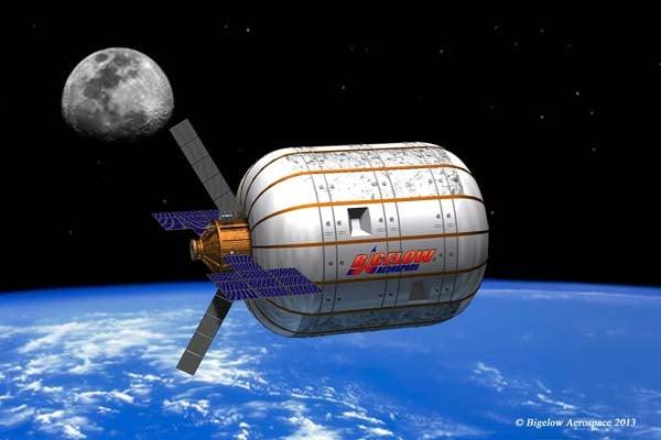 Bigelow spacecraft rendering. (Bigelow Aerospace)