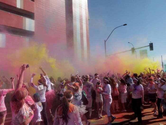 Last year's The Color Run in downtown Las Vegas. (Courtesy of Cat Price)