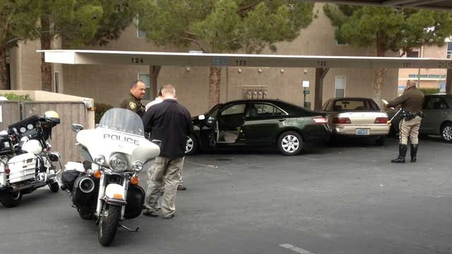 Police said an accident between two vehicles at an apartment complex parking lot resulted in a person's death. (Jason Valle/FOX5)