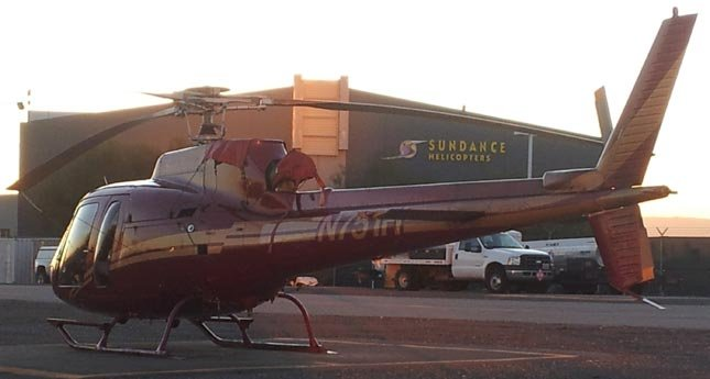 A helicopter similar to the one pictured crashed at Lake Mead in December, 2011.  (FOX5 FILE)
