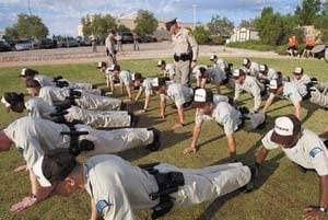 Reserve officers go through training. (LVMPD)
