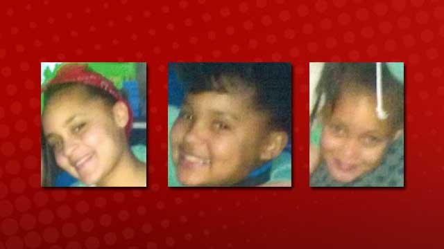 Kaloni Robinson, left, Diamond Robinson, middle, and Baylee Robinson, right, were the three girls who went missing on Feb. 3, 2013. (LVMPD)