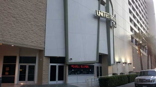 The United Artists Theater just off the Las Vegas Strip was the scene of a double shooting. (Dave Lawrence/FOX5)