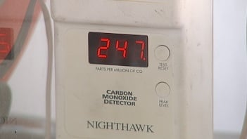 A carbon monoxide detector shows deadly levels of gas before ionization alarm sounds