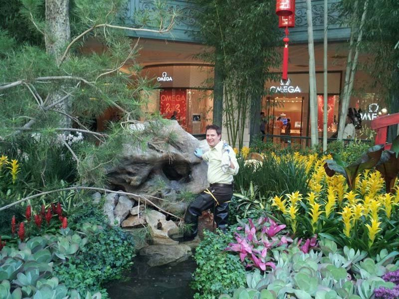 FOX5's Jon Castagnino takes in the splendor of the Bellagio Conservatory and Botanical Gardens' Chinese New Year display.